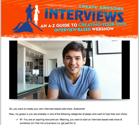 create awesome interviews