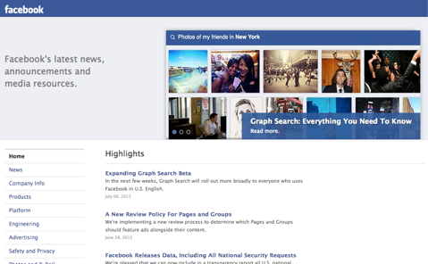 facebook latest news