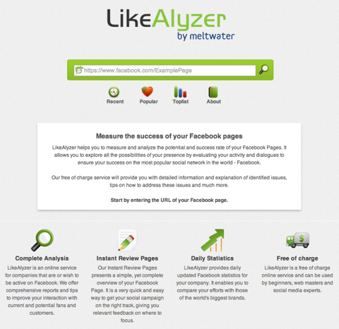 likealyzer home page