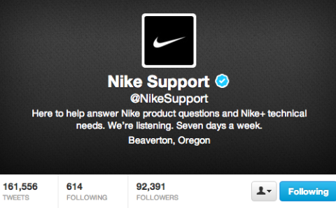 nike support