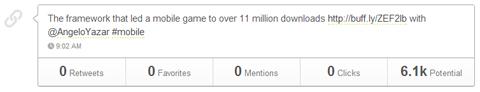 tweet with zero clicks
