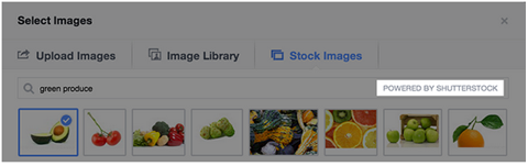 Facebook und Shutterstock