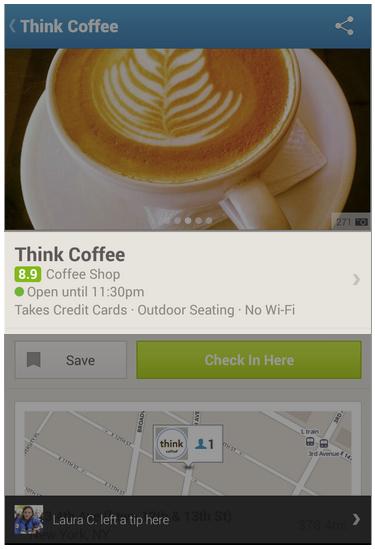foursquare Details hinzufügen