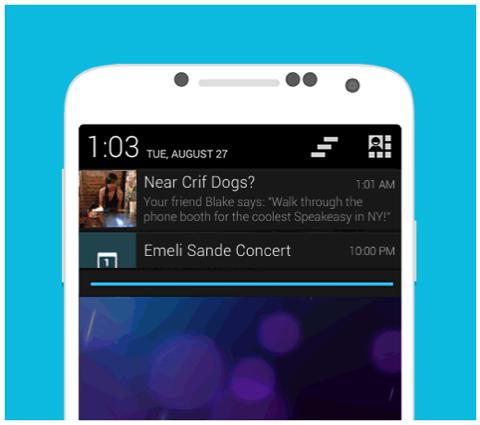 Proaktive Empfehlungen von foursquare