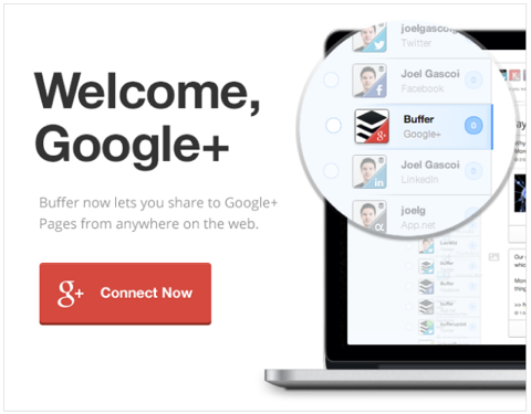 google plus buffer