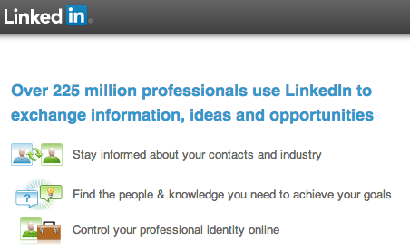 linked in home page