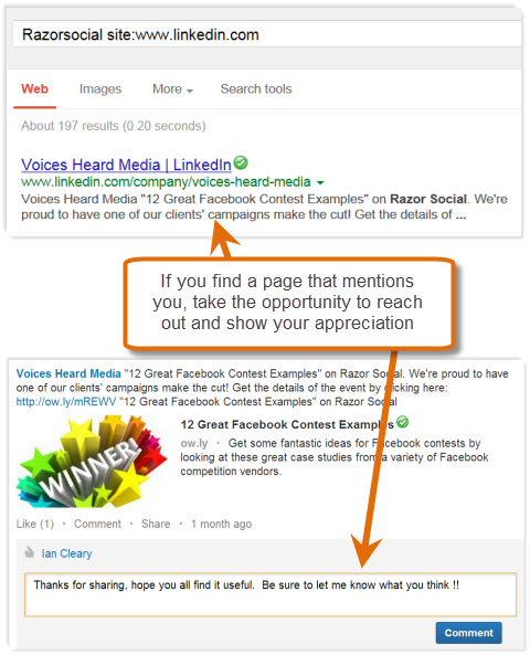google social search result