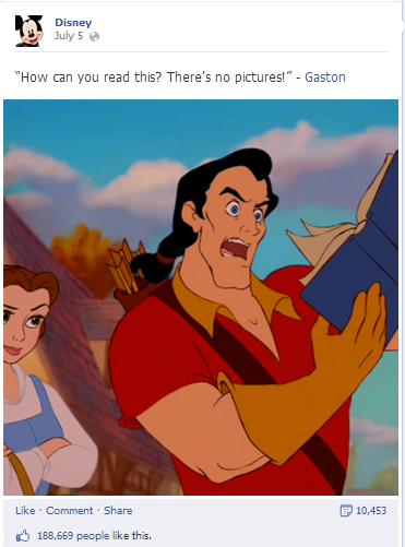 Disney teilt ein Zitat