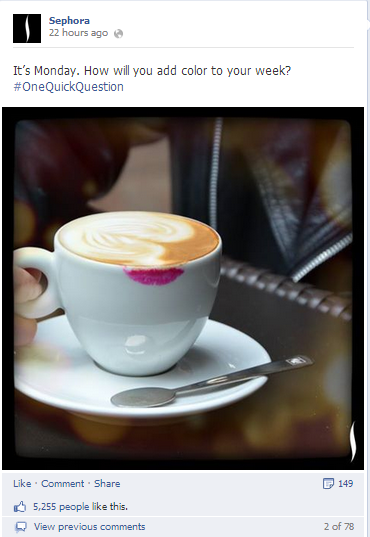 sephora uses hashtags