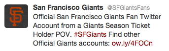 giants fan account