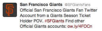 giants fan account