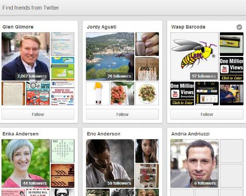 find friends and followers