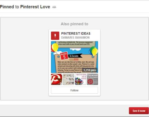 pinterest suggests other boards