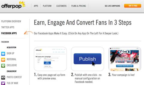 offer pop facebook apps