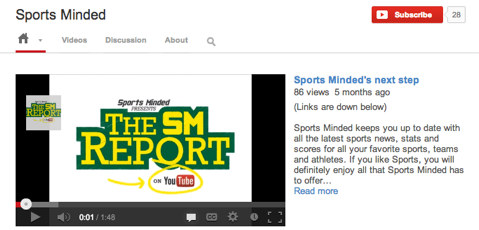 sports minded youtube
