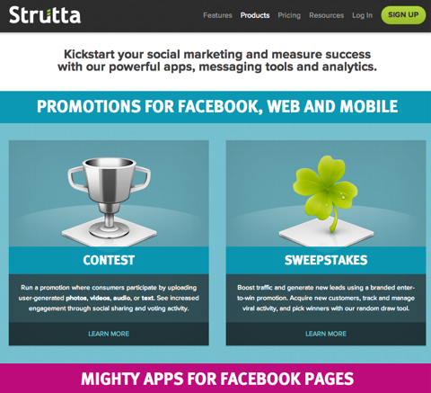 strutta facebook apps