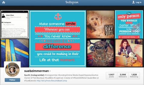 sue b zimmerman instagram