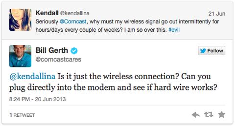 comcastcares Twitter Kundenservice