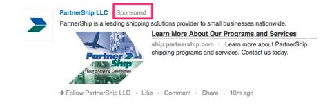 company sponsored update