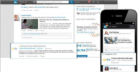 LinkedIn gesponserte Jobs Newsfeed
