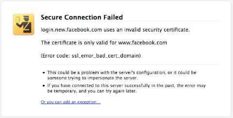 ssl certification error