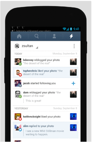 Tumblr Android Update
