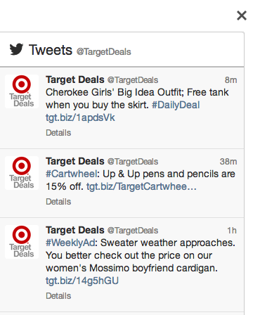 target twitter account