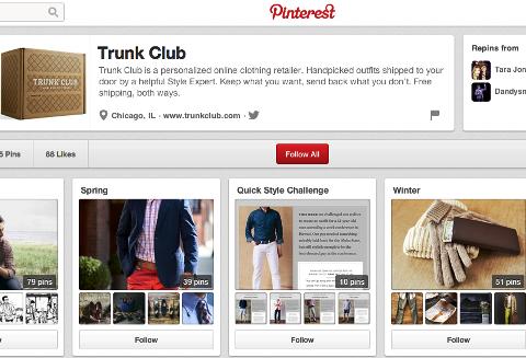 Trunk Club pinterest Profil