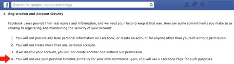 facebook registration info