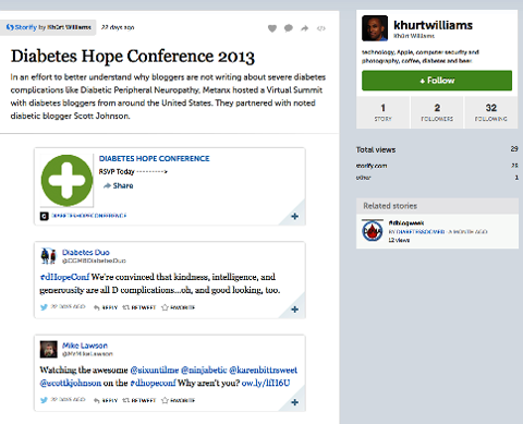 storify tweets from an event