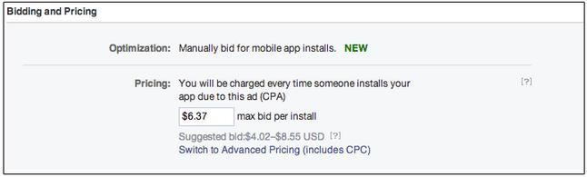 Facebook CPA Handy-Anzeige