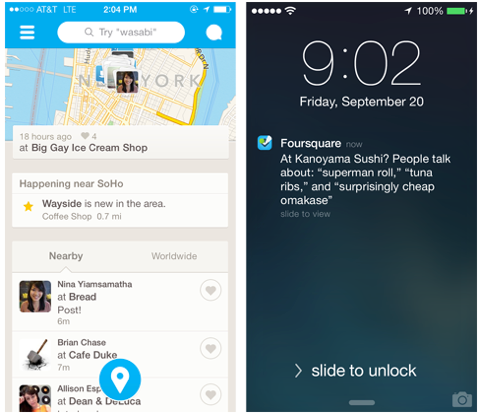 foursquare newly updated