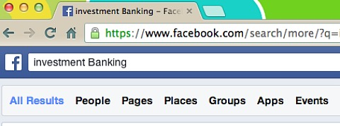 graph search categories on facebook
