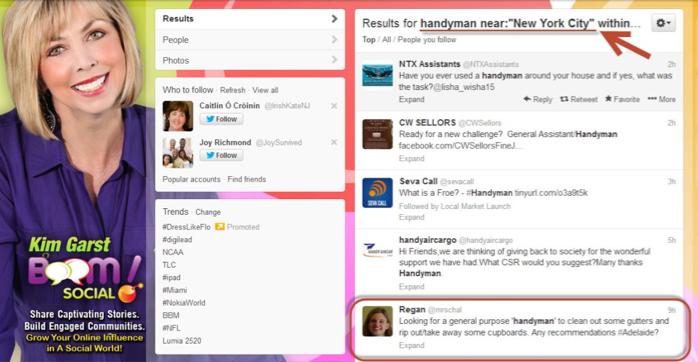 kim garst twitter search result