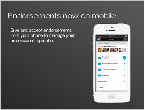 linkedin endorsements on mobile