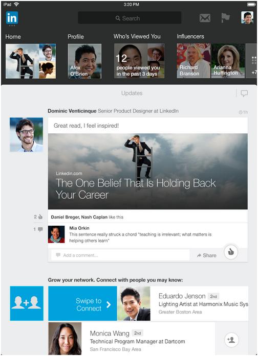 LinkedIn erfindet die iPad App neu