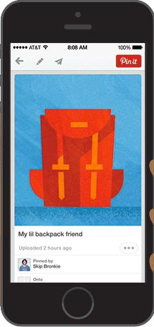 pinterest app swipe