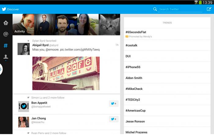 twitter for android tablet