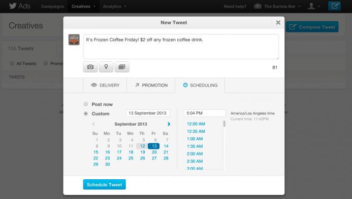 twitter schedule tweets
