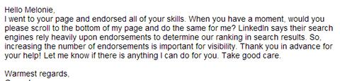 unprofessional skills endorsement