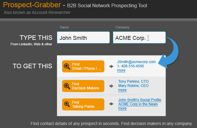 account researcher egrabber homepage