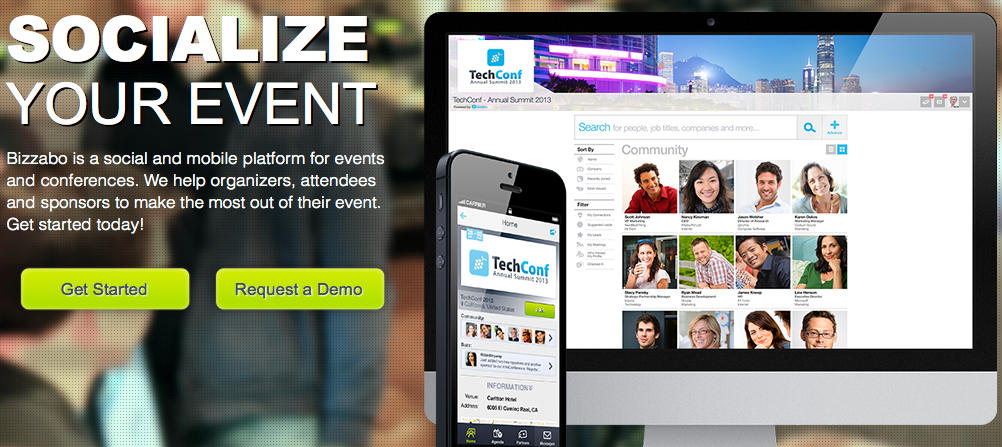 bizzabo homepage