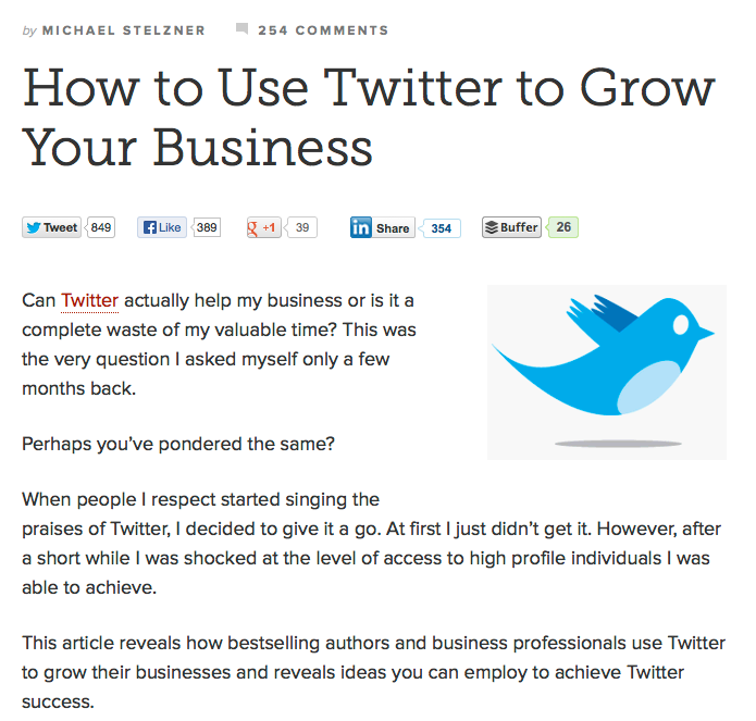 copyblogger twitter article