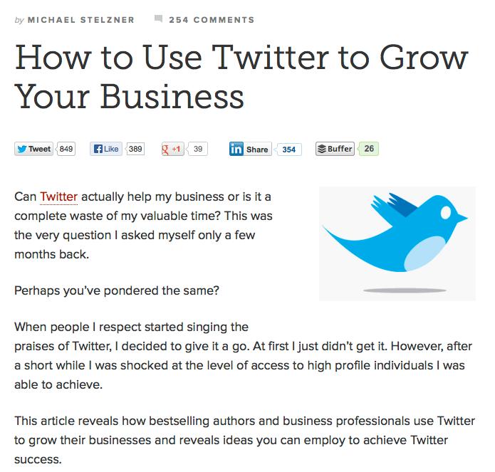 copyblogger twitter article
