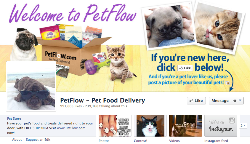 petflow facebook page