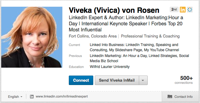 viveka von rosen linkedin account profile