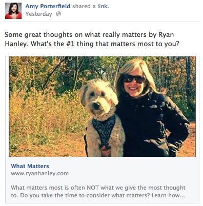 what matters status update