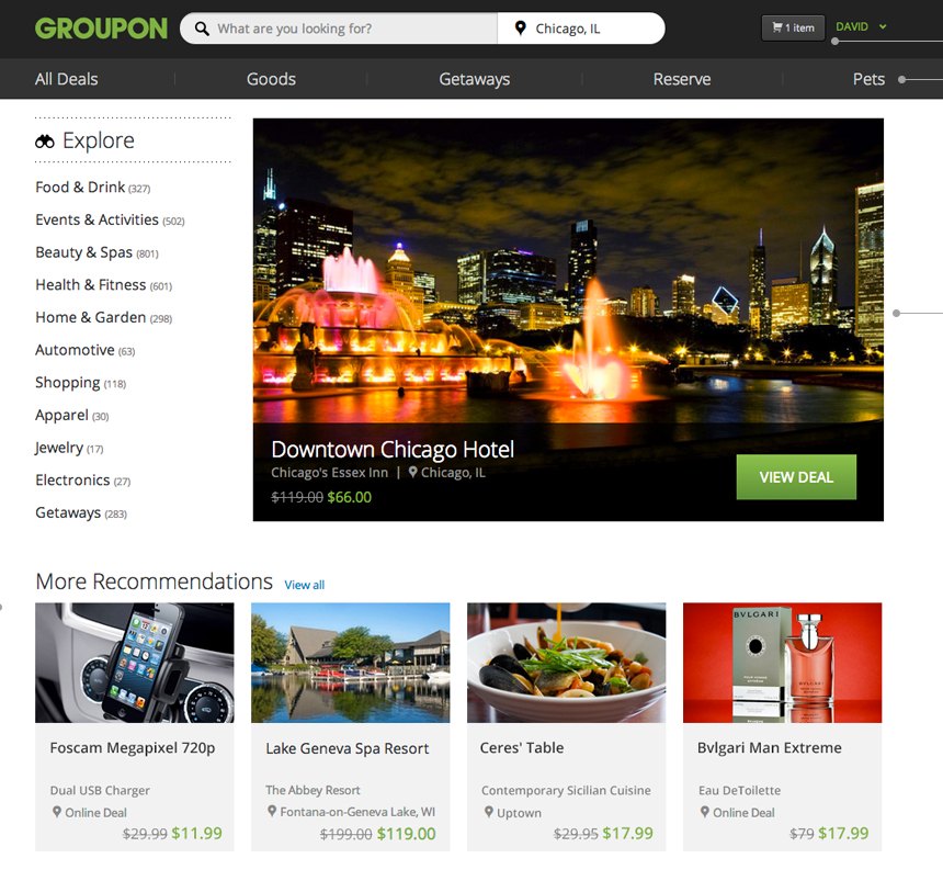 groupon new homepage