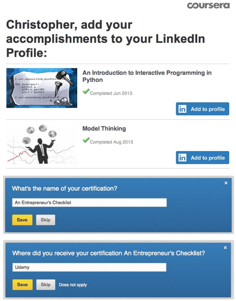 linkedin add certifications