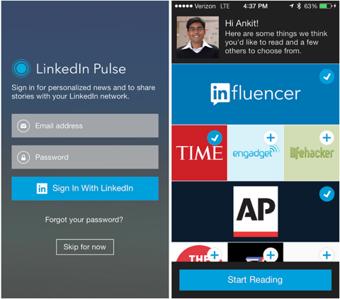 linkedin pulse integration